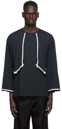 SASQUATCHfabrix. Black Western Seam Tape Long Sleeve T-Shirt