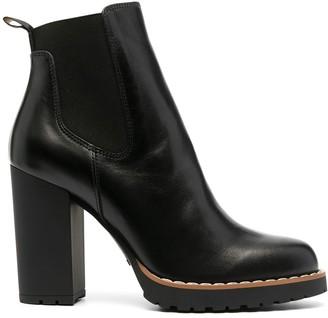 Hogan Chunky Heel Ankle Boots