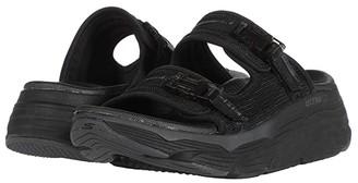 Skechers Performance Max Cushioning (Black/Gray) Women's Sandals