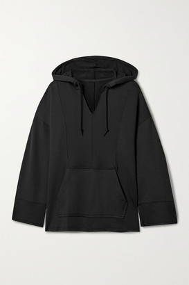 Nike Yoga Luxe Stretch-jersey Hoodie - Black