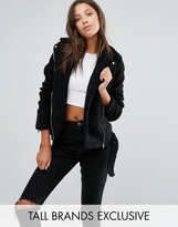 Missguided Tall Exclusive Faux Shearling Biker Jacket