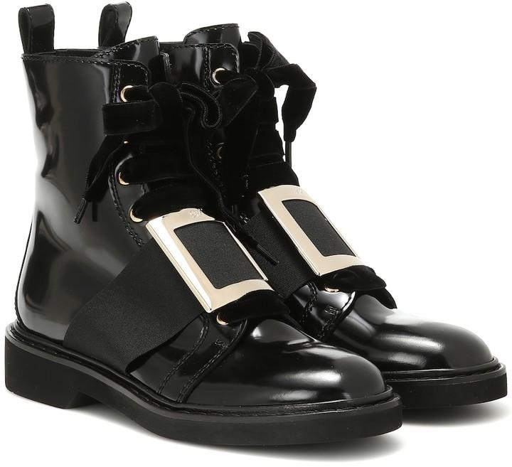 a0e8486666e Viv' Rangers leather ankle boots