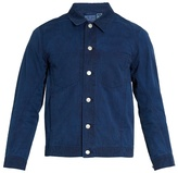 Blue Blue Japan Point-collar cotton jacket
