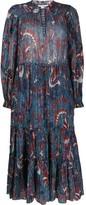 Ulla Johnson lurex print midi dress