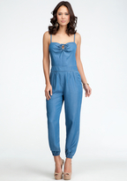 Bebe Chambray Tie Detail Jumpsuit