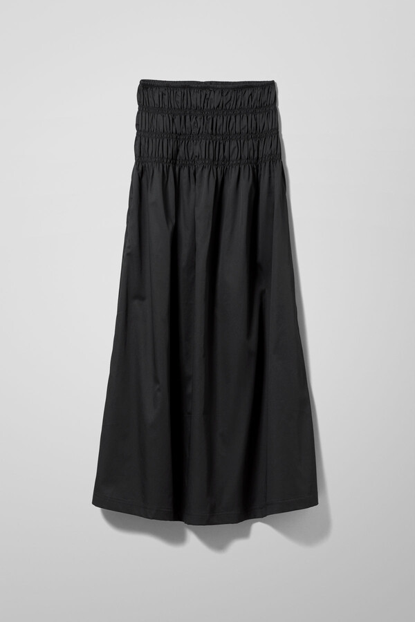 Thumbnail for your product : Weekday Maxim Cotton Skirt - Black