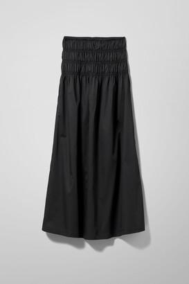 Weekday Maxim Cotton Skirt - Black