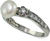 Giani Bernini Cubic Zirconia and Freshwater Pearl (8mm) Ring in Sterling Silver, Only at Macy's