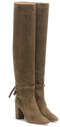 Aquazzura Milano 85 suede boots