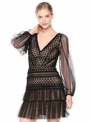 BCBGMAXAZRIA Azria Women's Circle Lace Cocktail Dress