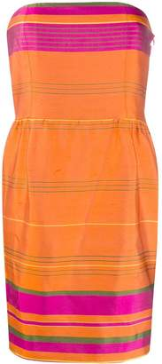 Valentino Pre-Owned striped strapless dress
