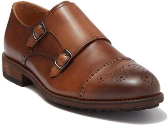 Warfield & Grand Madison Leather Double Monk Strap Loafer