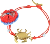 Tory Burch Crab Charm Thread Bracelet
