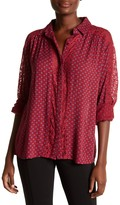 KUT from the Kloth Natalie Lace Trim Print Blouse