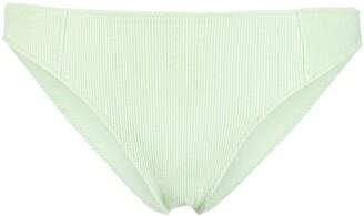 Ganni Textured Mid-Rise Bikini Briefs