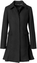 Banana Republic Italian Melton Wool-Blend Flounce-Hem Coat