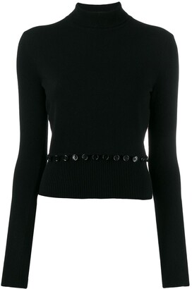 Alexander McQueen Knitted Polo Top