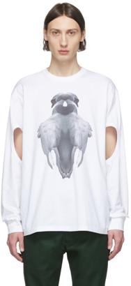 Burberry White Print Long Sleeve T-Shirt