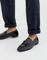 KG by Kurt Geiger loafers in black leather with snaffle detail