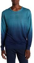 Slate & Stone Crew Neck Dip Dye Linen Sweater
