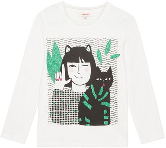 Catimini Glitter Cat T-Shirt