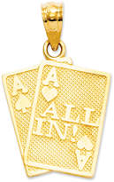 Macy's 14k Gold Charm, Ace of Hearts and Spades All In Charm
