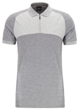 Slim-fit color-block polo shirt with S.Caf