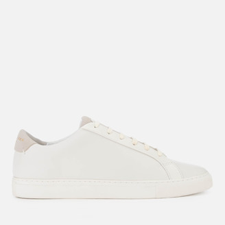 Kurt Geiger London Men's Donnie Leather Cupsole Trainers - White