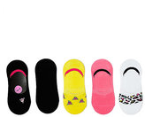 Betsey Johnson Flower Embroidered Footie Five Pack