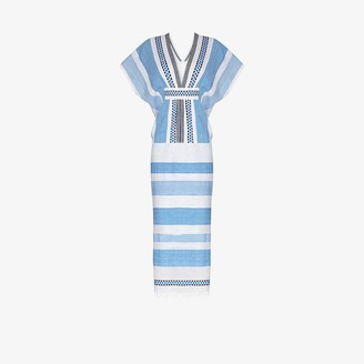 Lemlem Mizan stripe-pattern midi dress
