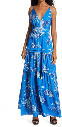 IORANE Blue Bird Maxi Dress