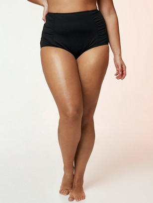 Evans High Waisted Bikini Briefs - Black