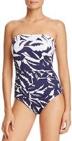 Tommy Bahama Graphic Long Bandeau One Piece Swimsuit