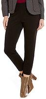 Pendleton Reed Ponte Knit Slim Straight-Leg Ankle Pants