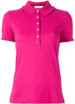 Tory Burch Lacey polo shirt - women - Cotton/Spandex/Elastane/Modal - M
