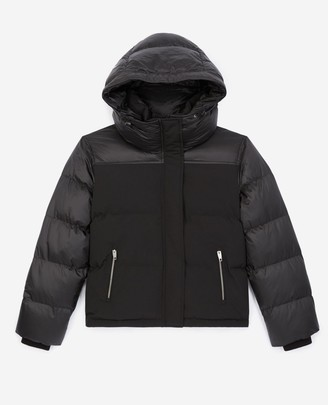 The Kooples Technical fabric black down jacket w/pockets