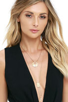 LuLu*s Of Substance Gold Layered Necklace Set