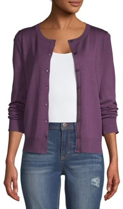 Time and Tru Women's Everyday Cardigan Sweater