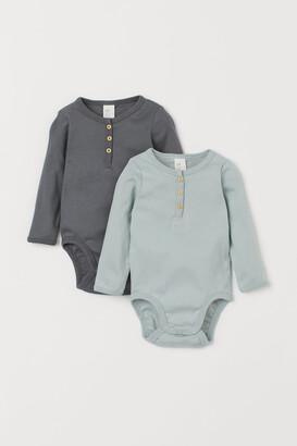 H&M 2-pack Henley Bodysuits