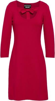Moschino Bow-embellished Wool Mini Dress