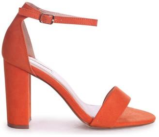 Linzi Nelly Orange Suede Suede Single Sole Block Heels