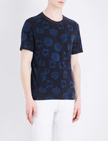 Sandro Floral-print cotton T-shirt