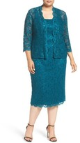 Alex Evenings Plus Size Women's Lace Dress & Jacket
