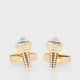 Paul Smith Men's Gold Ice Cream Cone Cufflinks