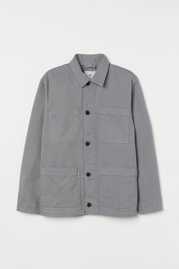 Thumbnail for your product : H&M Cotton Twill Shirt Jacket - Gray