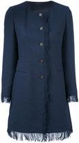 Tagliatore Doris fringed jacket - women - Cotton/Spandex/Elastane/Cupro - 40