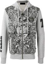Philipp Plein printed zip hoodie