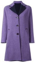 Etro contrast lapels buttoned coat