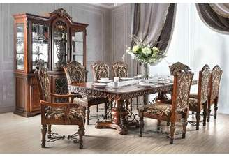 Astoria Grand Chao Dining Table - Brown Cherry Finish Astoria Grand