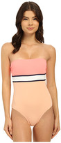 Vince Camuto Beach Front Bandeau Maillot w/ Removable Soft Cups